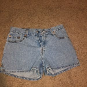 Levi's studded shorts